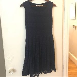 Navy Max Studio Lace Cocktail Dress
